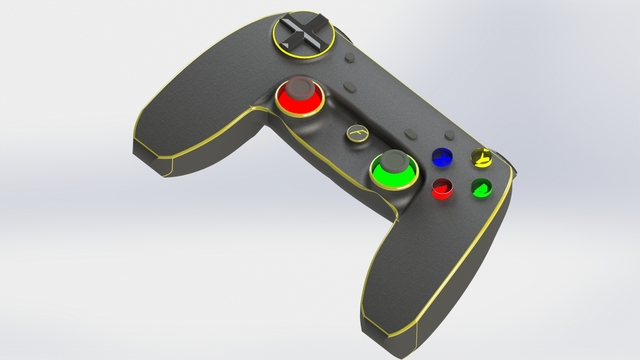 An Xbox 360 inspired game controller