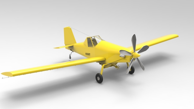 3D model of Airtractor at-402b