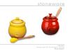 Honey Pot and Larding Pot for Le Creuset