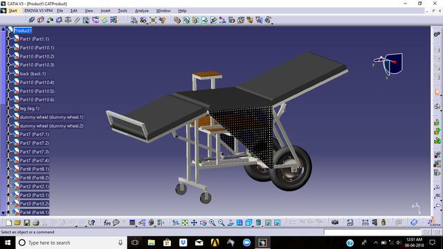stretcher cum wheel chair