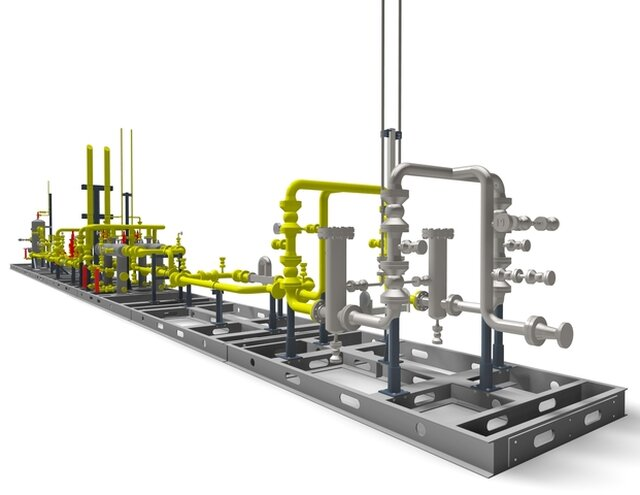 Portable Natural Gas Processing system