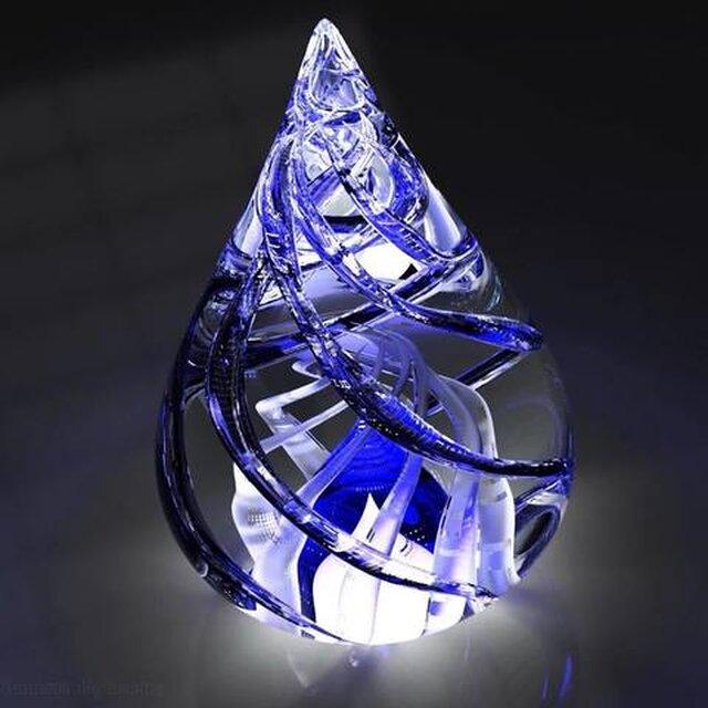 Blue Glass Flame