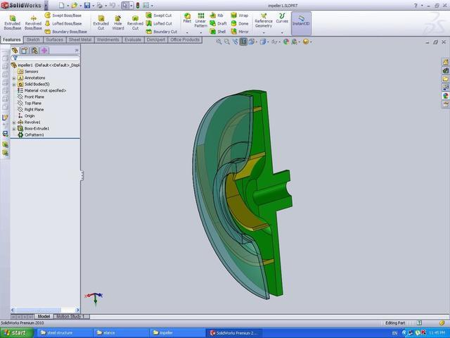 3D modelling of Impeller