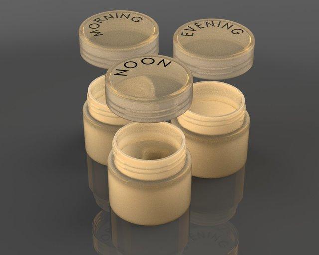 7 days pill organizer - circular design (concept 1)