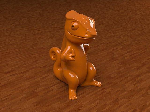 Chameleon Mascot design
