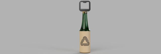 Bottle with a Bottle cap opener!