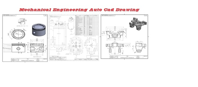 Mechanical Engineering Auto cad 2D and 3D Drawing & Design