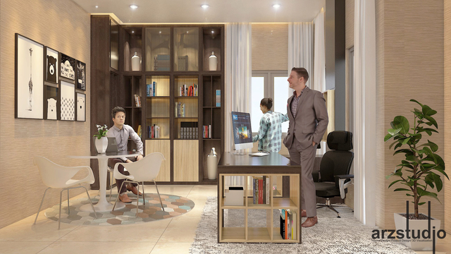 bedroom and office design