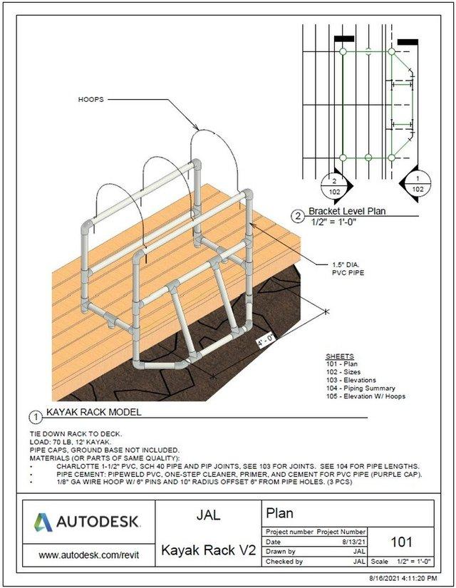 Kayak Rack V2
