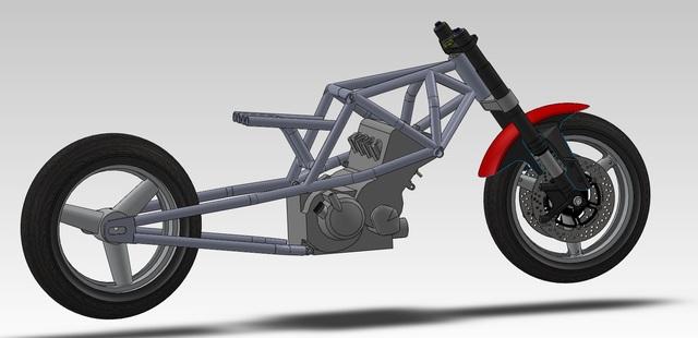 Bonneville Salt Flat Motorcycle