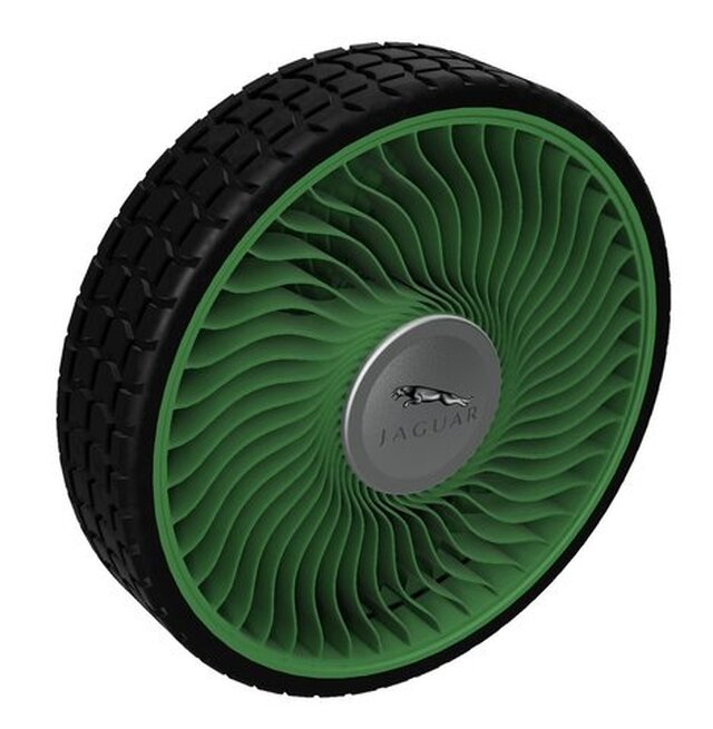 Pneumatic less tyre and wheel