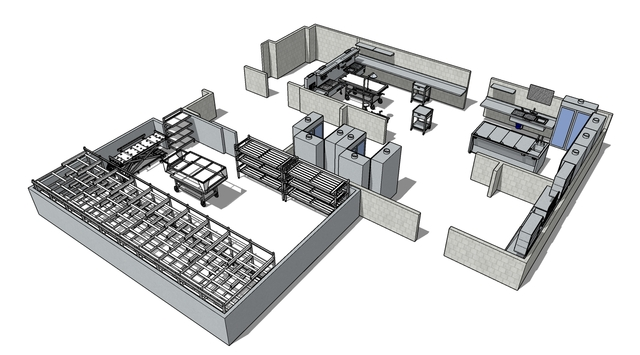 Mortuary Equipment Layout (Medical Sector)