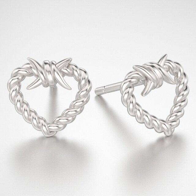 Creative barbwire earrings
