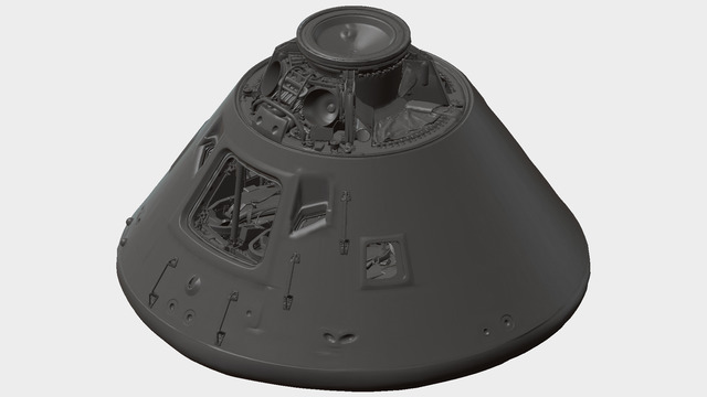 Apollo 11 shuttle from the Smithsonian - downloadable 3D model