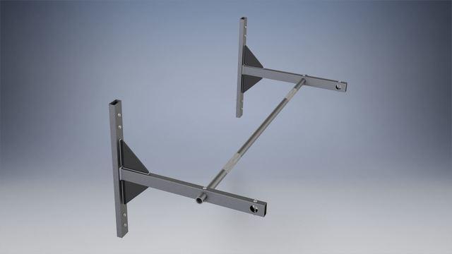 Horizontal pull-up bar