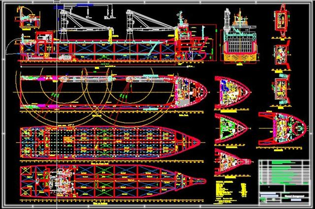 Ship Hull General Arrangement