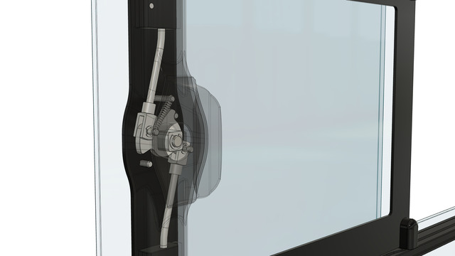Window Opening Mechanism for Yachts