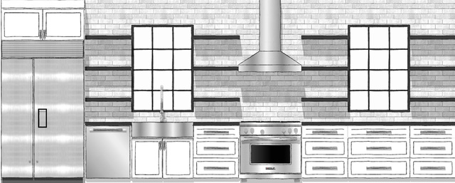 Existing Kitchen and Stairway Remodel Design Drawings