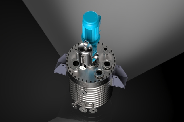 Chemical reactor with stirrer