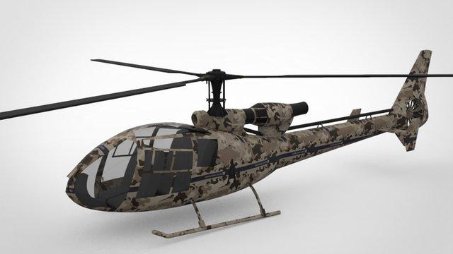 Aerospatiale gazelle helicopter