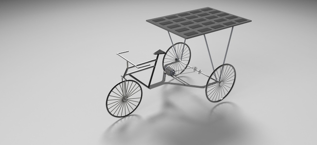 Design a Solar and Pedaling powered Rickshaw
