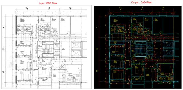 Raster to CAD Digitization