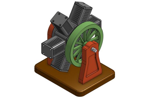 6-Cylinder Radial Engine