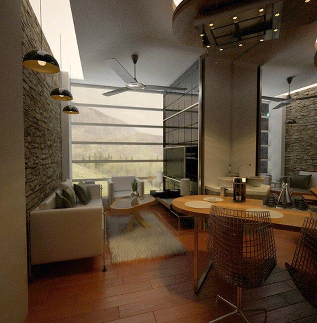 Atelier in roof top