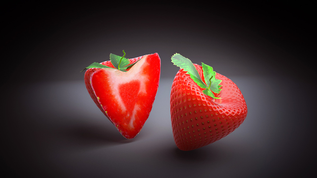 Fruit (Strawberry) Model with PhotoRealistic Render