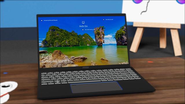 msi prestige 14 laptop - 3D model