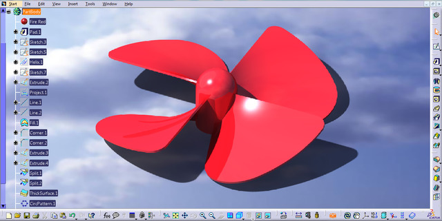 I can work on software like AutoCad, Creo, CATIA as well as ANSYS.