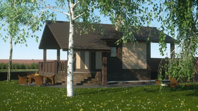 Landscape design 3d visualisation