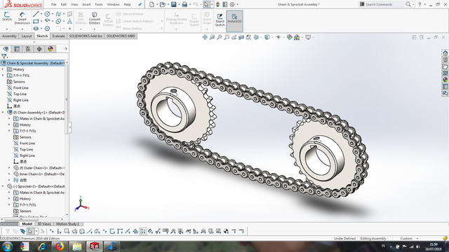 Chain Sprocket Assembly Solidworks 2016 Download Free 3d Model By Krisnadi Cad Crowd
