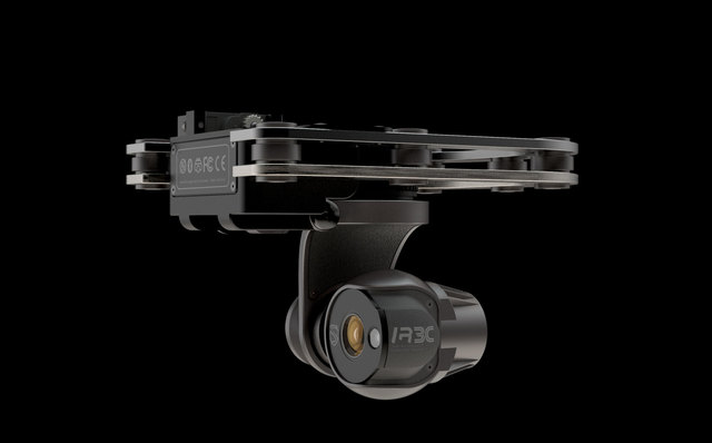Aerial retractable Gimbal with integrated IR-CAMERA for Archon Dronics