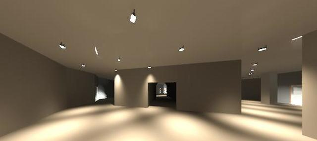Ballroom, office and breakout space rendering