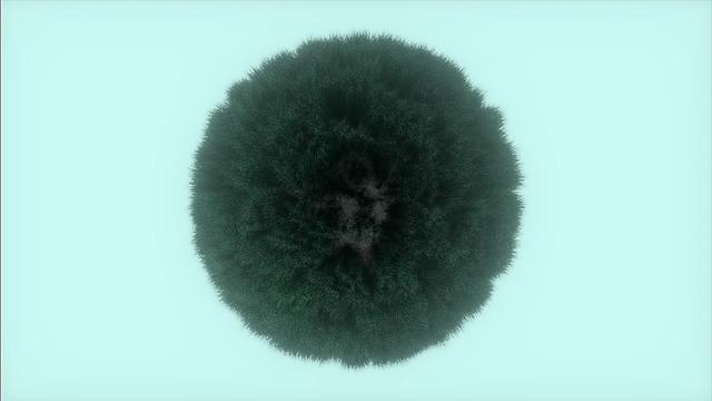 A weird pine sphere.