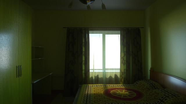 Yellow room.