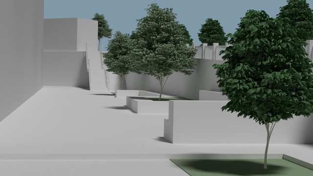 3D render for a civil engineer proyect