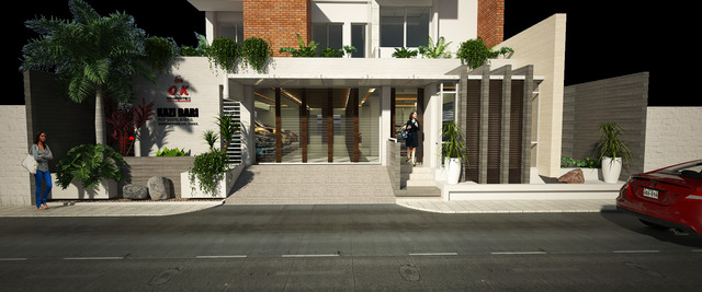 Approach entry design for an apartment building