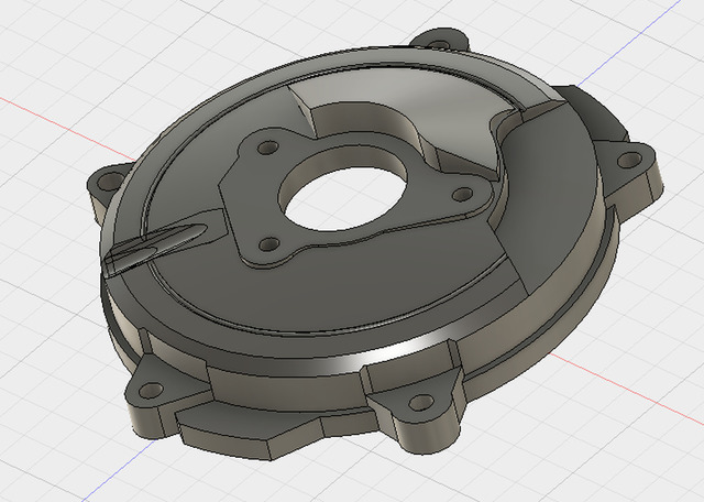 Fusion 360 design for a motorbike clutch cover