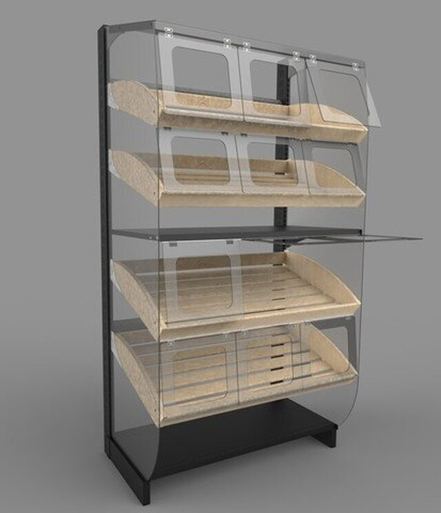 Backery shelving with protection