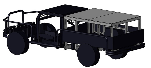 Roll over and falling object protection for mining vehicle