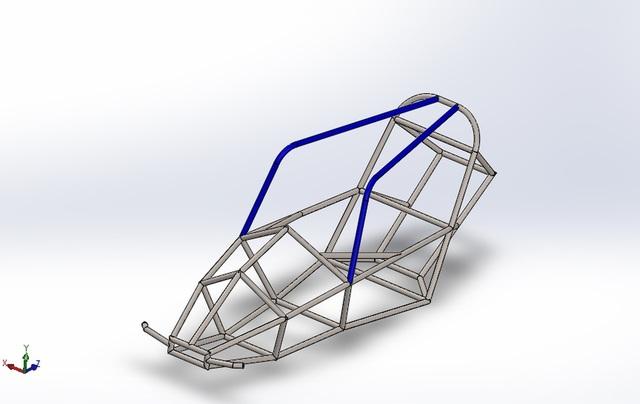 Wireframe of a Solar Car