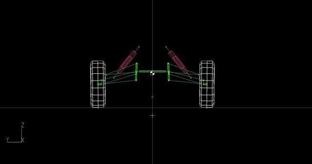 BAJA ATV suspension hardpoints in LOTUS Software