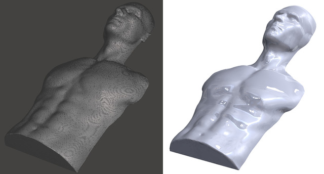 Mesh editing, sculpting, and translation is CAD format for production