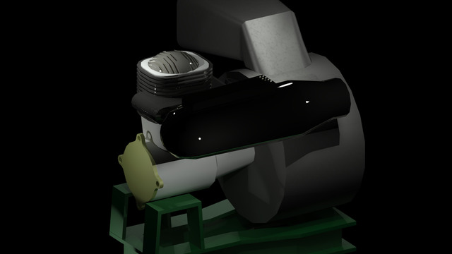 Impeller Engine - Back view