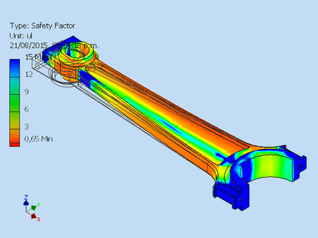 FEA analysis for a rod.