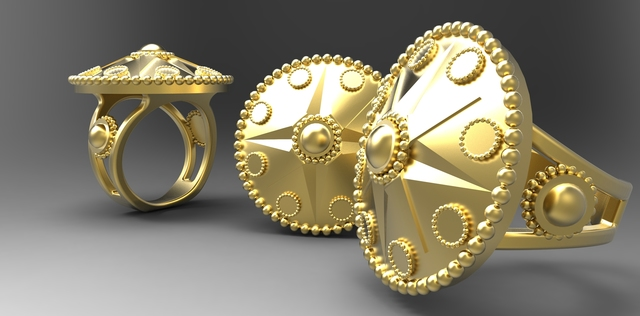 Ring with star