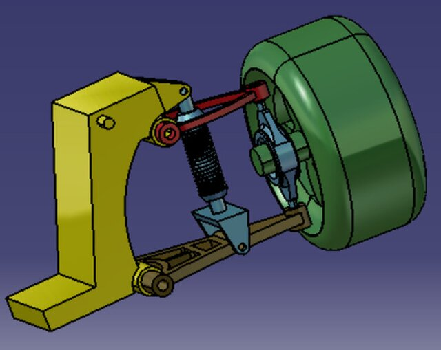 Vehicle suspension with two arms