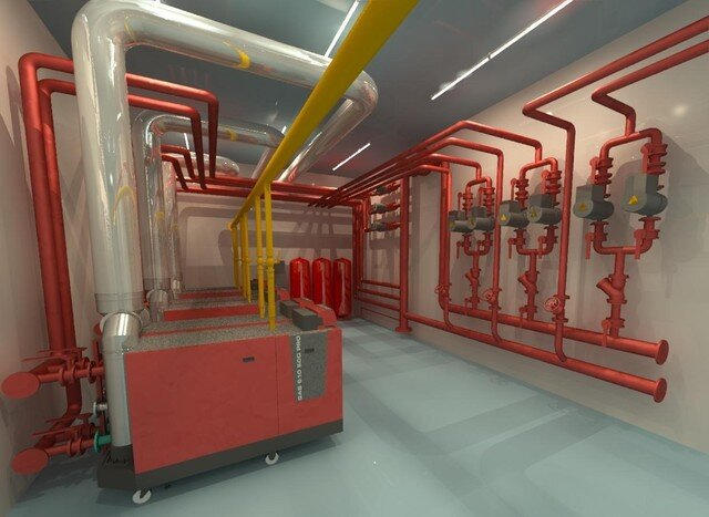Plant Room Concept Tender Submission Rendering
